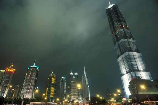Stock Photo: 4261-69199 Jin Mao Tower, Pudong district, Shanghai, China, Asia
