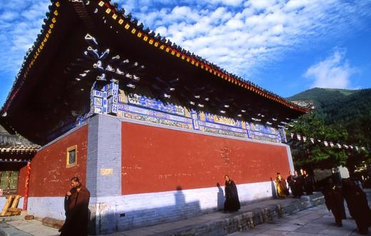 Stock Photo: 4261-69430 Bishan Temple, Taihuai, Wutashain, China, Asia