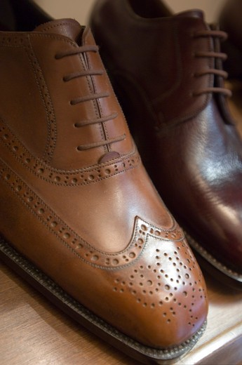 Stock Photo: 4261-69604 Artisan shoe-shop Mannina, Florence, Italy