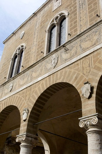 Palazzo comunale, Pienza, Italy : Stock Photo