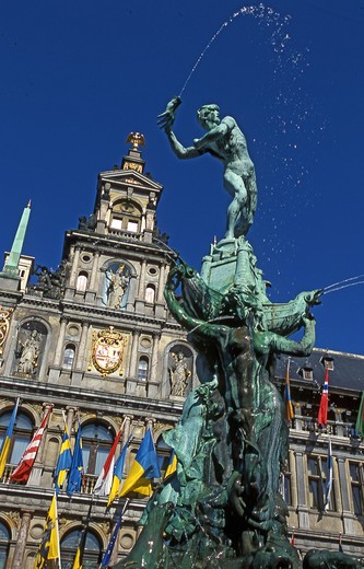 Town Hall, Antwerp, Belgium, Europe,  : Stock Photo