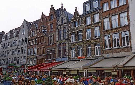 Cathedral's Square, Antwerp, Belgium, Europe,  : Stock Photo