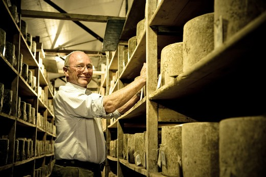 Stock Photo: 4261-70503 Richard Calver, Westcombe Dairy, Shepton Mallet, Somerset, England, United Kingdom, Europe