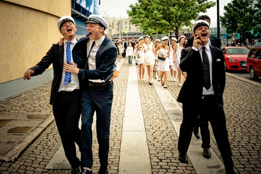 Stock Photo: 4261-70779 Graduation day, Goteborg, West Coast, Sweden, Europe