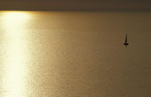 Stock Photo: 4261-71138 Sunset in Capraia, Tuscany, Italy