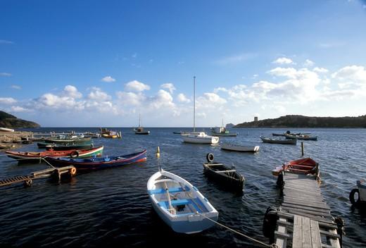 Stock Photo: 4261-71636 Harbour, Capo Teulada, Sardinia, Italy