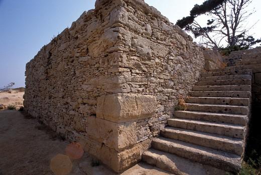 Stock Photo: 4261-71788 Ancient wall, Mozia's saltworks, Ancient Phoenician colony, Marsala, Sicily, Italy