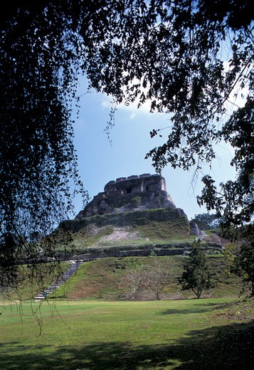 Stock Photo: 4261-72522 Maya archaeological site, Xunantunich, Belize, Central America