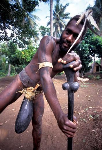 Young Ni-Vanuatu, Malakula island, Vanuatu Republic, Pacific Ocean, Oceanian : Stock Photo