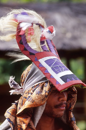 Traditional Maggarai ethnic group, Melo village, Flores island, East Nusa Tenggara,  Indonesia : Stock Photo