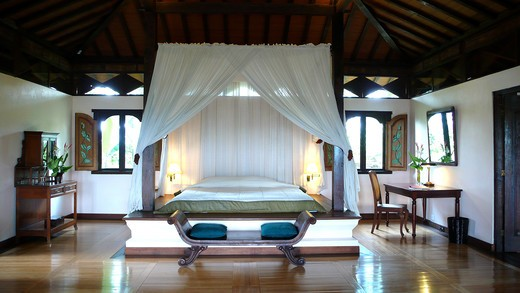 Villa, Losari Coffee Plantation Resort & Spa, Magelang, Java island, Indonesia : Stock Photo