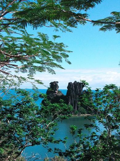 Stock Photo: 4261-73549 La Poule rock, Hienghéne bay, north east coast, New Caledonia
