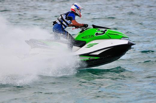 Stock Photo: 4261-74034 Aquabike World Championship, Arbatax, Sardinia, Italy, Europe