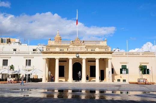 Palace Square, Main Guard, Valletta, Malta, Europe : Stock Photo