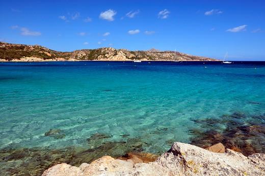 Landscape, Caprera island, La Maddalena archipelago, Sardinia, Italy, Europe : Stock Photo