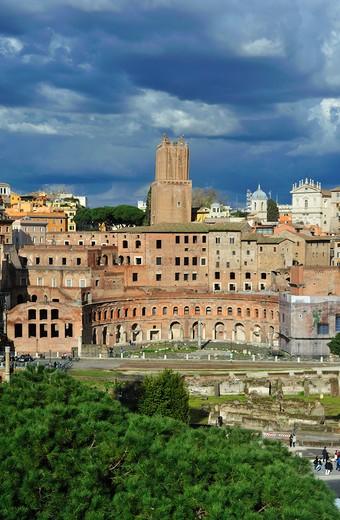 Stock Photo: 4261-74345 Rome. Lazio. Italy. Europe. Mercati di Traiano.