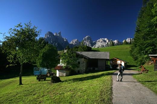 Stock Photo: 4261-74705 Path, Pale di San Martino mountain chain, Trentino Alto Adige, Italy