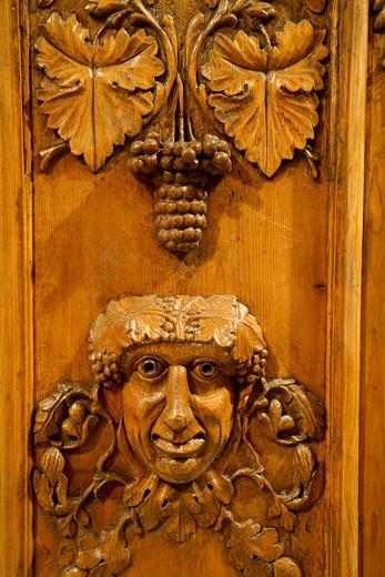 Bas-relief, Cose di Casa museum, Mezzolombardo, Trentino, Italy : Stock Photo