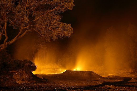 Volcanic calderas, Furnas lake, Sao Miguel Island, Azores, Portugal, Europe : Stock Photo