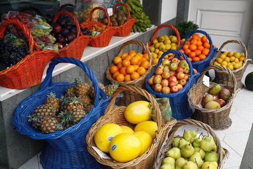 Fruits, Furnas, Sao Miguel Island, Azores, Portugal, Europe : Stock Photo