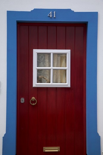 Stock Photo: 4261-77847 Typical door, Angra do Heroismo, Terceira, Azores Island, Portugal, Europe