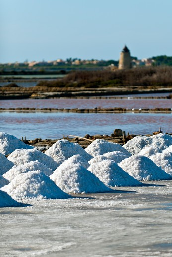 Stock Photo: 4261-78728 ettore e infersa saltworks, Mozia, Sicily, Italy