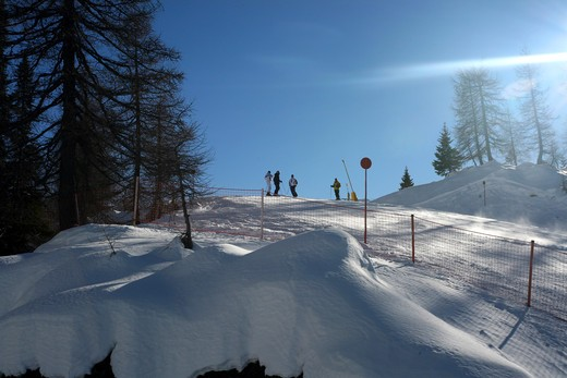 Stock Photo: 4261-79825 Ski run, Madonna di Campiglio, Trentino Alto Adige, Italy