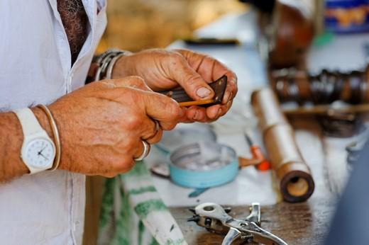 Stock Photo: 4261-80141 Hippy Market, Mola, Formentera, Balearic Islands, Spain, Europe
