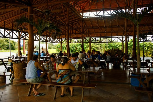 Restaurant, Liberia near Airport, Guanacaste, Republic of Costa Rica, Central America : Stock Photo