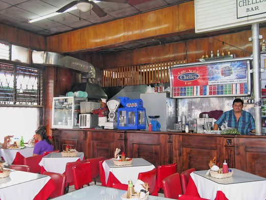 Stock Photo: 4261-80536 Old Restaurant Chelles, San Josè, Republic of Costa Rica, Central America
