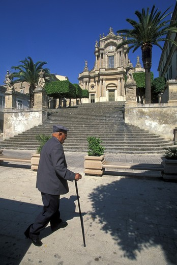 Stock Photo: 4261-80837 San Giovanni church, Modica, Sicily, Italy