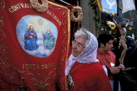 Stock Photo: 4261-80847 Holy Week, Forza d'Agrò, Sicily, Italy.