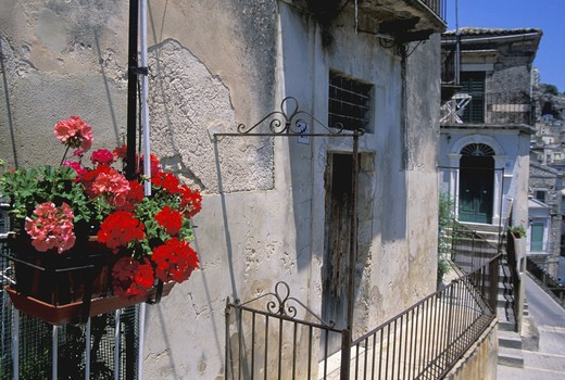 Stock Photo: 4261-80959 Foreshortening, Modica Bassa, Sicily, Italy
