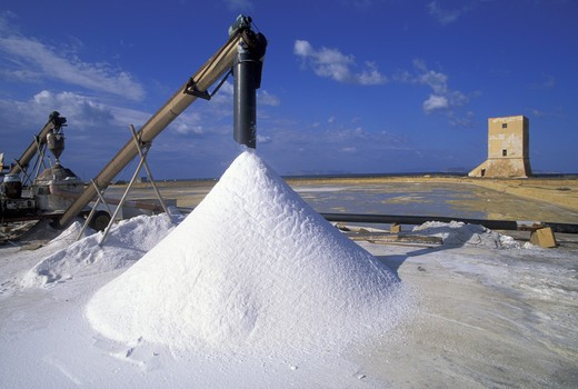 Saltworks, Nubia, Sicily, Italy  : Stock Photo