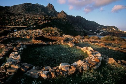 Milazzese cape, Panarea island, Aeolian islands, Sicily, Italy  : Stock Photo