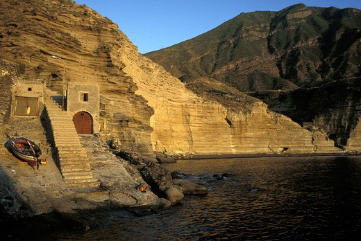 Pollara, Salina island, Trapani, Sicily, Italy : Stock Photo