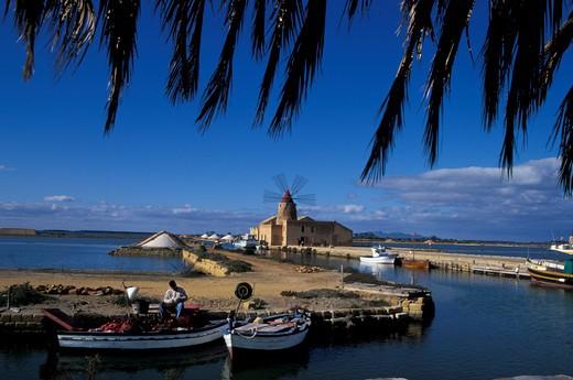 Embarking to Mozia, Sicily, Italy : Stock Photo