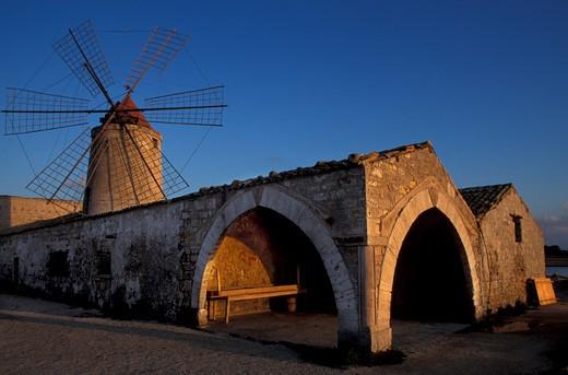 Salt Museum, Nubia, Sicily, Italy : Stock Photo