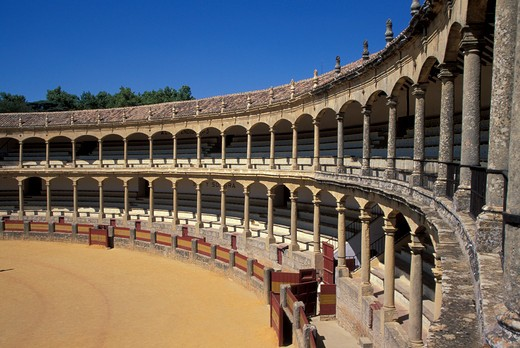 Stock Photo: 4261-81987 Ronda bullring, Malaga, Autonomous Community of Andalusia, Spain