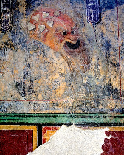 Stock Photo: 4261-82517 Fresco, Antonino Salinas archaeological museum, Palermo, Sicily, Italy