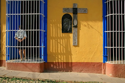 Foreshortening, Trinidad, Cuba, West Indies, Central America : Stock Photo