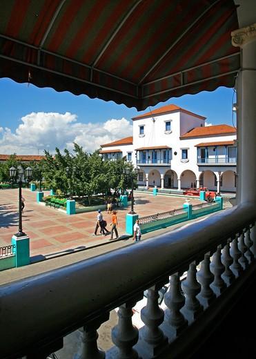 Stock Photo: 4261-83276 L'Ayuntamiento palace, Santiago de Cuba, Cuba island, West Indies, Central America