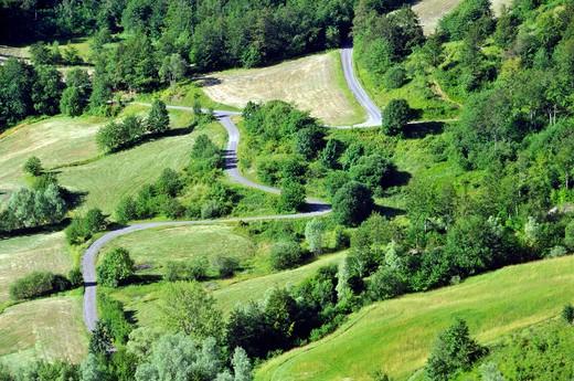 Landscape, Modena Apennines, Emilia-Romagna, Italy : Stock Photo