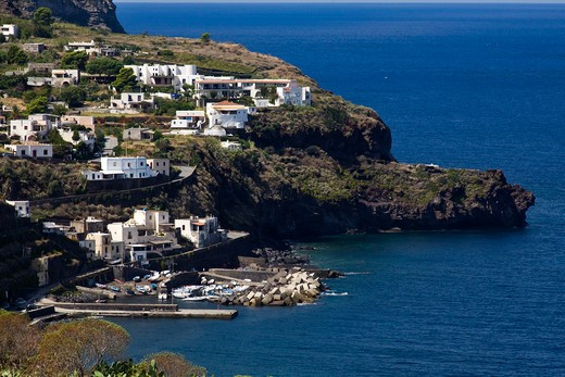 Scalo Galera Village, Salina Island, Messina, Sicily, Italy, Europe : Stock Photo