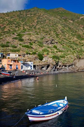 Rinella beach, Salina Island, Messina, Sicily, Italy, Europe : Stock Photo