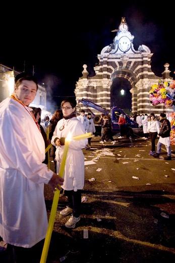 The Feast of St. Agata, Catania, Sicily, Italy, Europe : Stock Photo