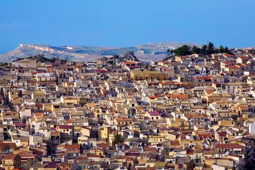 Stock Photo: 4261-85730 Cityscape, Pietraperzia, Sicily, Italy, Europe