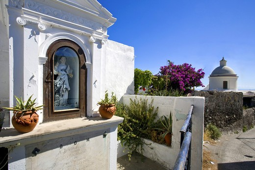 Little shrine, Stromboli Island, Aeolian Islands, Sicily, Italy : Stock Photo