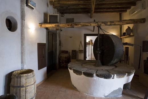 Civic museum, Lingua, Salina Island, Aeolian Islands, Sicily, Italy : Stock Photo