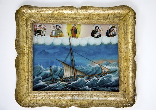 Ex voto, Salina Island, Aeolian Islands, Sicily, Italy : Stock Photo